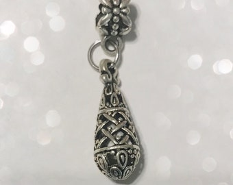 Filigree Drop Charm for Bracelet or Necklace