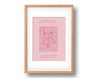 Secretly In Love | Fashion Poster | Art Print | Wall Decor | Gallery Wall | Wall art