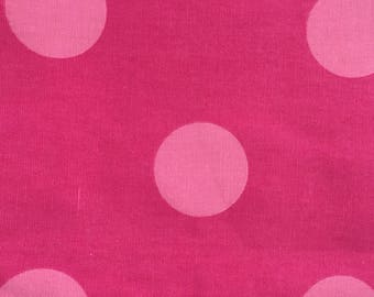 Giant Pink Polka Dot Upholstery Fabric