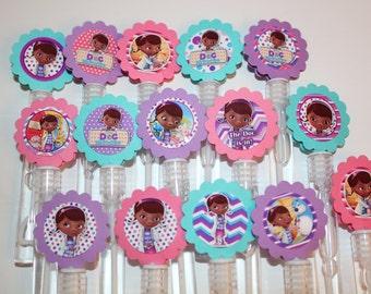 Doc McStuffins Mini Bubble Wands birthday party favors - set of 15
