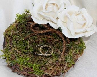 Wedding Ring Pillow Rustic Nest PLEASE READ MEASUREMENTS