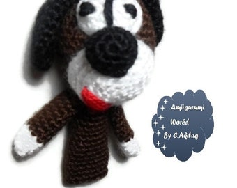 Amigurumi Pattern Crochet PDF- finger dog puppet