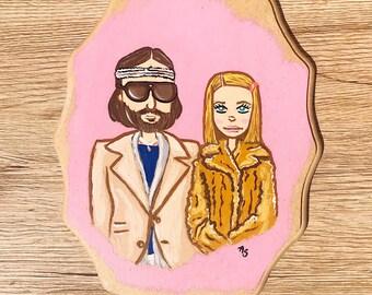 Margot and Richie Tenenbaum painting.