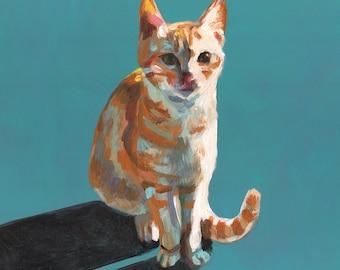 Orang cat - cats paintings  -  Pets Original - painting on mdf- art painting - animal painting