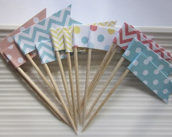 Food Picks / Cupcake Toppers / Party Picks / set of 24