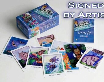 Higher Intuitions Oracle Deck - Signed By Artist - Animal Oracle Cards - Fortune Telling Card Deck - Autographed Deck - Whimsical Animal Art
