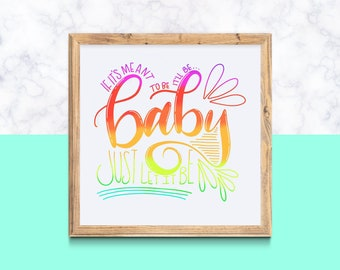 """Printable 'Meant To Be' - BeBe Rexha Florida Georgia Line FGL Handlettered Typography Download square ANY SIZE up to 15"""" x 15"""""""