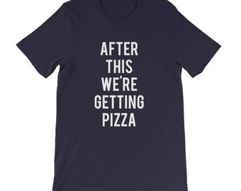"""RESERVED: 9 T-shirts """"After This We're Getting Pizza"""" Black Shirt - Bridal Party Getting Ready Outfit - Bride robe"""
