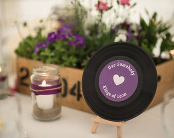 Personalised Vinyl Record Music Wedding Table Name