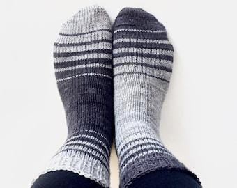 OBVERSE Socks Knitting Pattern