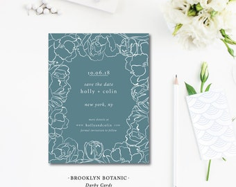 Brooklyn Botanic Printed Save the Dates | Wedding Save the Date Photocard Invitation | Printed or Printable by Darby Cards