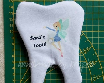 Personalized tooth fairy pillow with a pocket