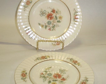 "Lot of 2 Lenox Temple Blossom 8-1/2"" Salad Plates"