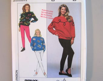 Simplicity 9364 UNCUT Women's Misses' Knit Pull-On Pants & Pullover Top - Christie Brinkley Collection - Size 6-24 - 1989