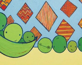 Pea Friends - 11 x 14 Print