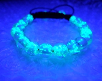 Glowing Bracelet, Glow in the dark Bracelet, Glow in the dark jewelry