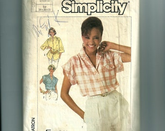 Vintage Simplicity Misses' Shirt In Two Lengths Pattern 7447