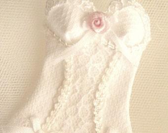 scale 1/12 dollhouse lingerie corset miniature