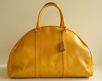 Prada Travel Bag in Yellow Leather