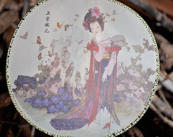 Chinese silk hand fan