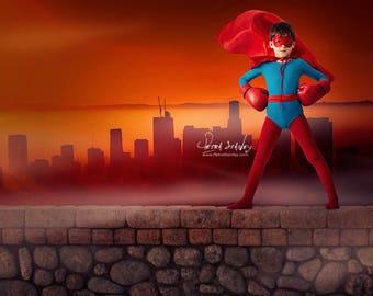 Superhero Digital Backdrop - Cosplay Background - Portrait Kids - Super Hero Decor - Super Hero Birthday - Super Hero Wall Decor - Superhero