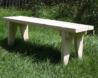 Wood Bench bench garden bench bench plank bench Kaminbank Bank Rustic house Shabby chic solid untreated nature 98 cm