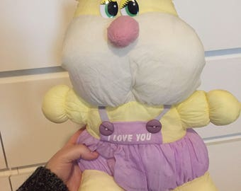Vintage puffalump like i love you pastel teddy
