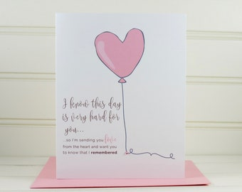 Mother's Day Grief Card, Grief Card, Infertility Card, Sympathy Card, Encouragement Card, Loss of a Child, Loss of a Mother, Mom Deceased