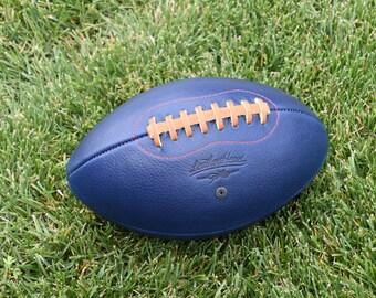 Big Blue Leather Head football,  Sports, Play, Handmade (F1-BB-Red)