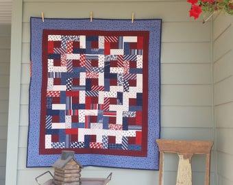patriotic wall or lap quilt