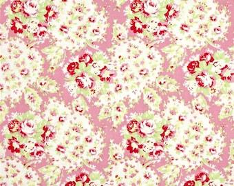 YARD - Tanya Whelan Fabric, Lola, Paisley, Pink, Floral cotton quilting fabric