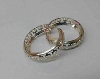 Kitchen hoops earrings 925 Silver SO112