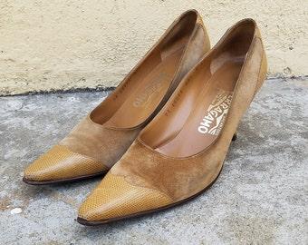 Vintage Salvatore Ferragamo Heels Sz. 8