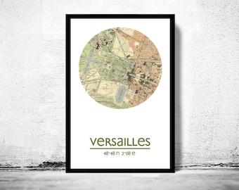 VERSAILLES - city poster - city map poster print