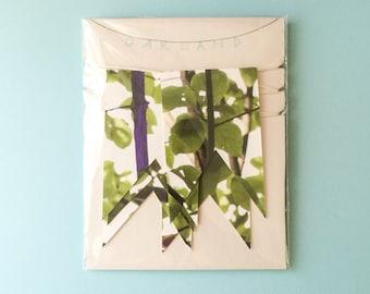 7' Girlande handgefertigte Flag Bunting / fertig zum Aufhängen-Wand-Dekor perfekter Akzent für Kinderzimmer, Wohnheim Dekoration, Kinder Zimmer, Natur-Thema, Baum