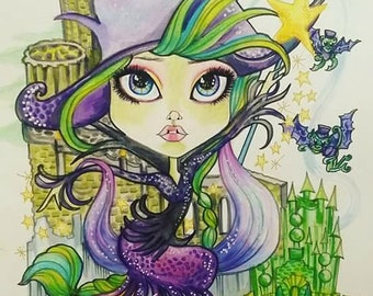Before She Was Green Oz Storybook Fantasy Witch Art By Leslie Mehl