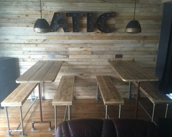 Reclaimed Scaffold plank bench seat 5ft industrial look