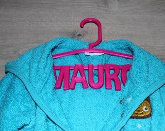 children's garment hanger with name