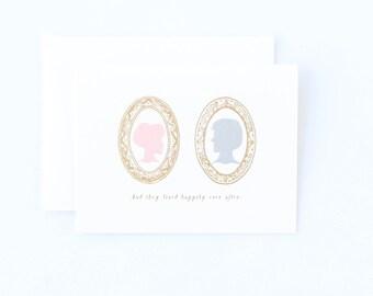 Pretty Happily Ever After Wedding Card - Wedding Card, Wedding Congratulations Card
