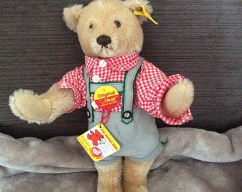 Steiff bear in lederhosen from 1986