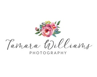 Floral design logo premade logo flourist logo photography logo boutique logo business logo flowers logo affordable logo graphic design