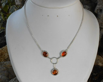 Necklace Silver 925, amber, amber necklace, women, unique necklace, handmade necklace, layering necklace, woman birthday