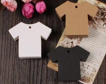 Kraft Paper Tags - 50pcs Kraft Tags T-Shirt Tag Price Tags Hang Tags Gift Tags Brown Tag Plain Tags with Hole 5cm x 5cm