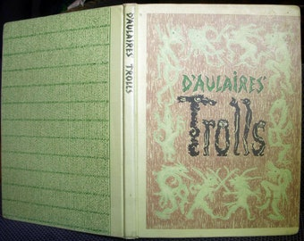 Trolls by D'Aulaire, Ingri and Edgar Parin d'Aulaire, Vintage Children's Book,  1972 Large Hardback Hardcover, Trolls Book