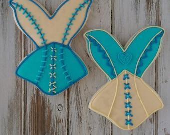 Bachelorette Cookies - Lingerie Cookies - Corset Cookies - Party Custom Decorated Cookies