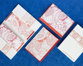 Orchard - eight letterpress note cards