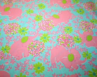 """Lilly Pulitzer fabric ~ ELEFRANCE~ 18"""" by 18""""~ 100% Cotton"""