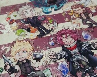 Cute FFXV characters Chocobros & Ardyn keychains