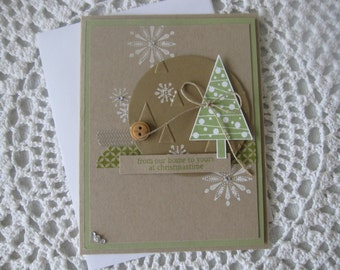 Handmade Greeting Card: From Our Home to Yours at Christmastime
