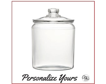 Custom 1/2 Gallon Glass Jar - Personalize Yours